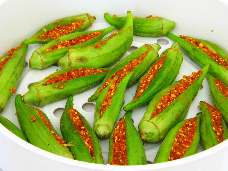 steam bhindi